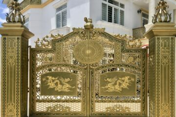 Bố trí cổng hợp phong thủy sẽ mang đến vẻ đẹp cho ngôi nhà