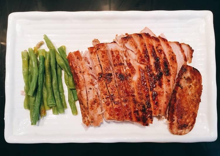 món cá ngừ áp chảo
