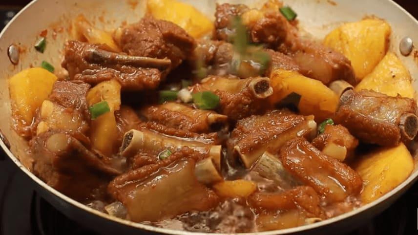Món ngon Sườn non rim tương đậu nành