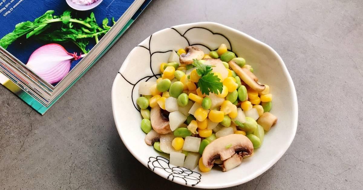 Món ngon Đậu nành hạt xào nấm