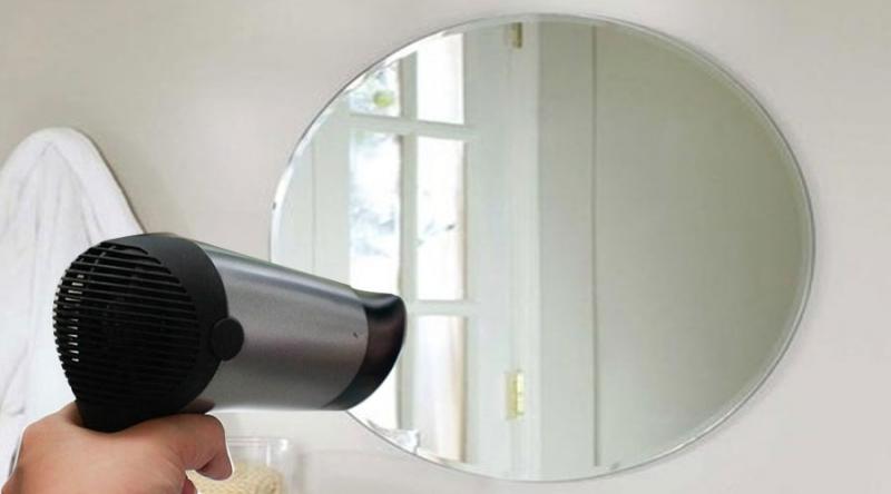 Loại bỏ hơi nước trên kính